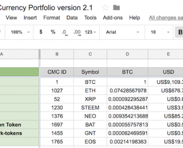 Coinmarketcap API Google Sheets