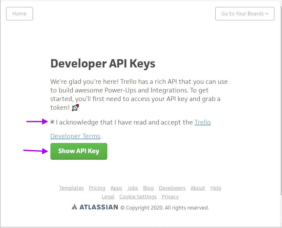 Click Show API key