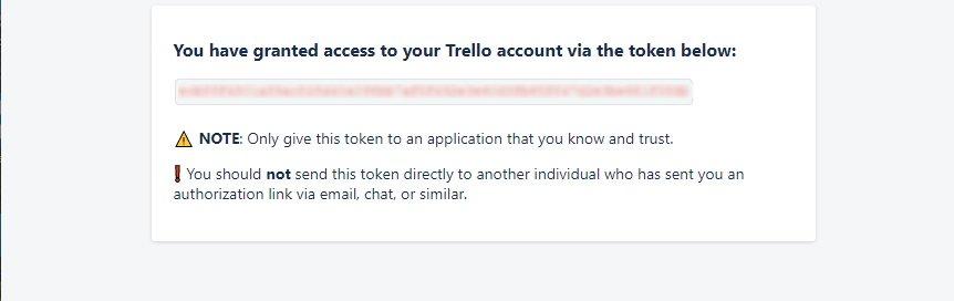 Trello API access token