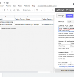 Facebook Ads data in Google Sheets