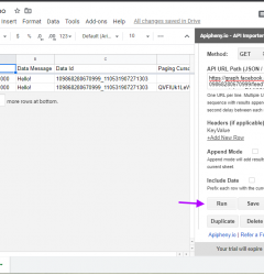 Facebook Page API data in Google Sheets