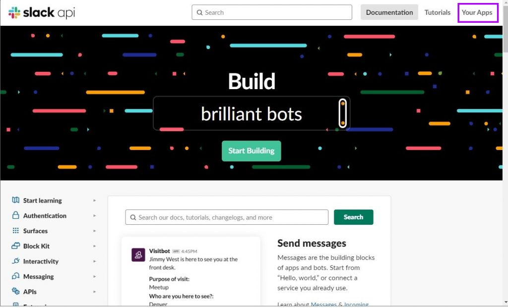 Slack API Developer Portal