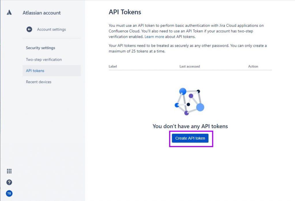 Create JIRA API Token