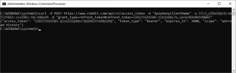 command to refresh the access token