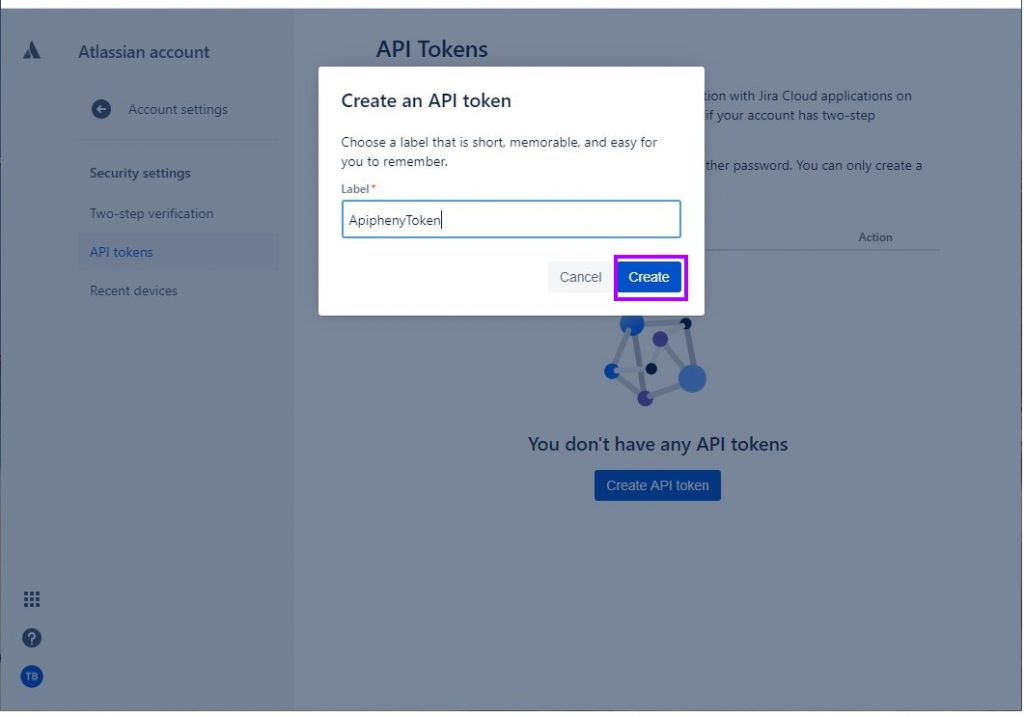 Create API Token