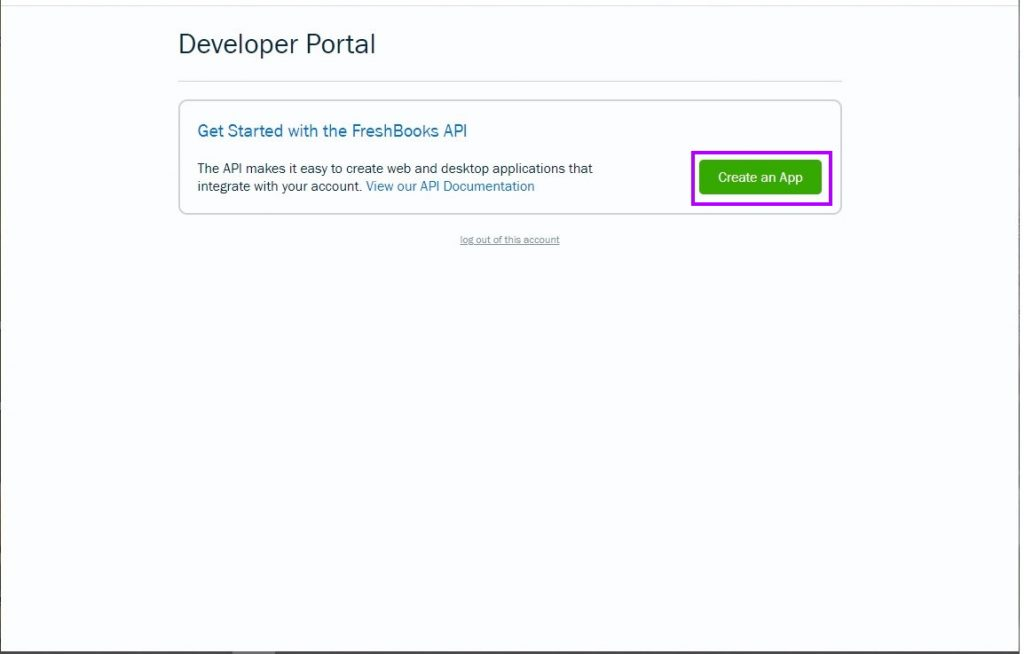 Create a Freshbooks App