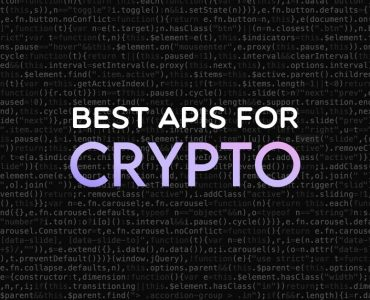 Best APIs for crypto