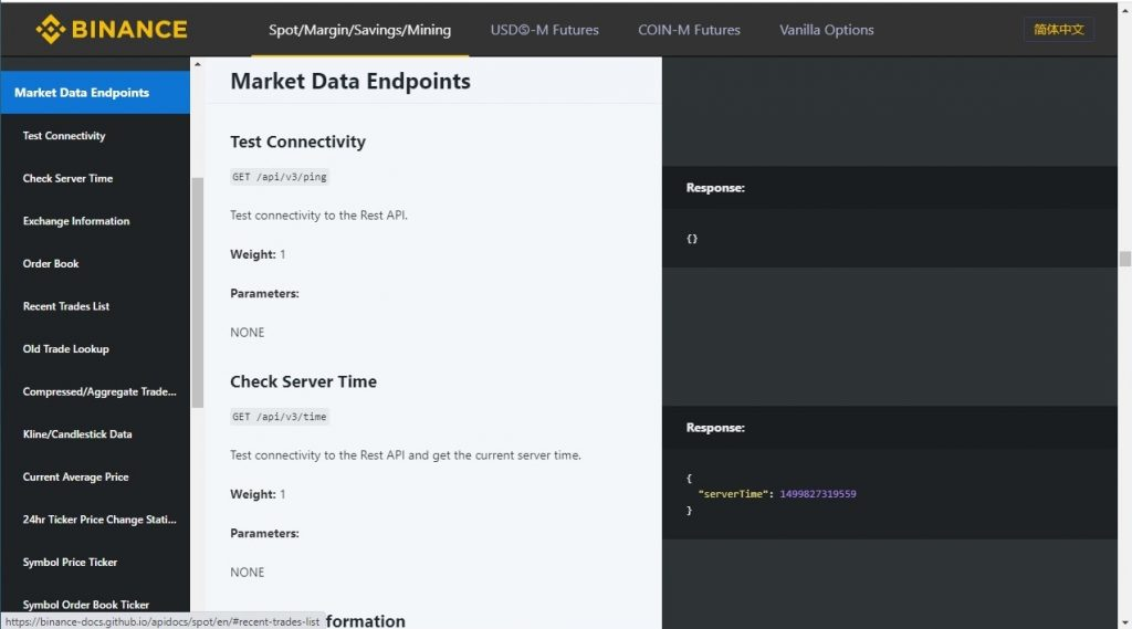Market Data Endpoints Category