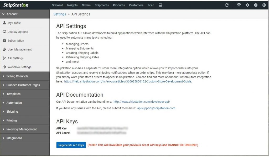 Copy and paste your API Key and Secret to a safe location for use in the next steps