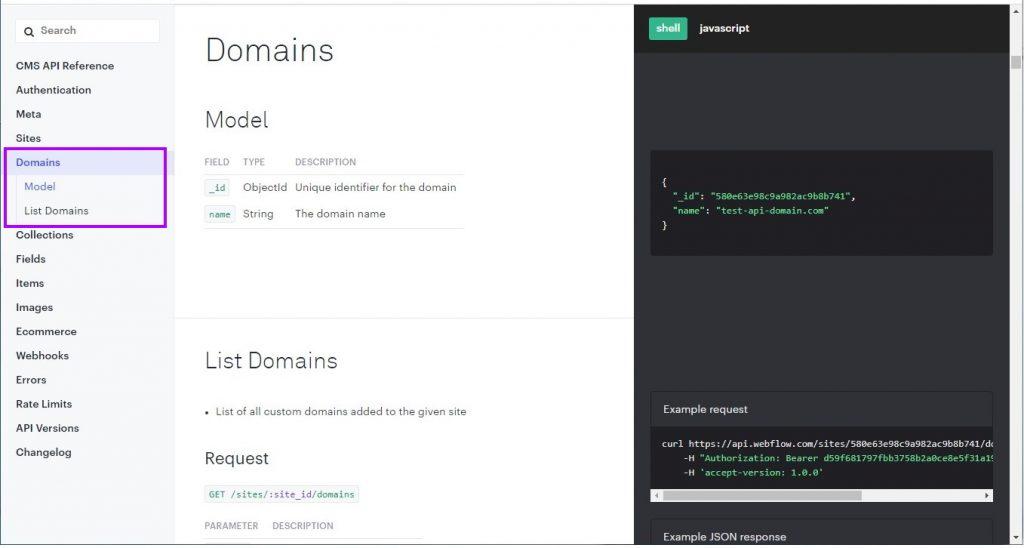API Categories