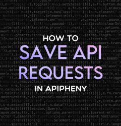 How to save API requests in Apipheny