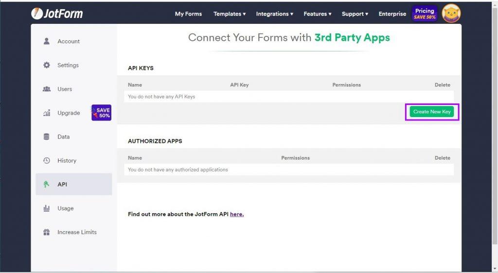 Generate an API key